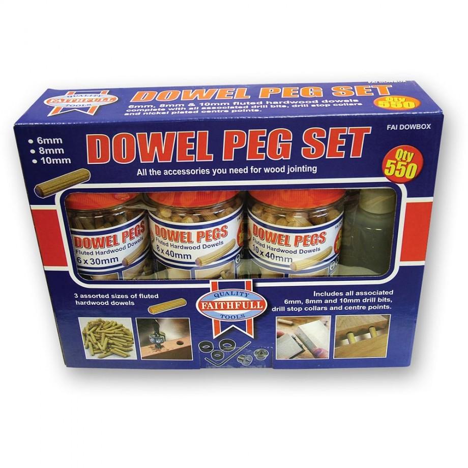 Faithfull Wood  Fluted Dowels and Glue Kit