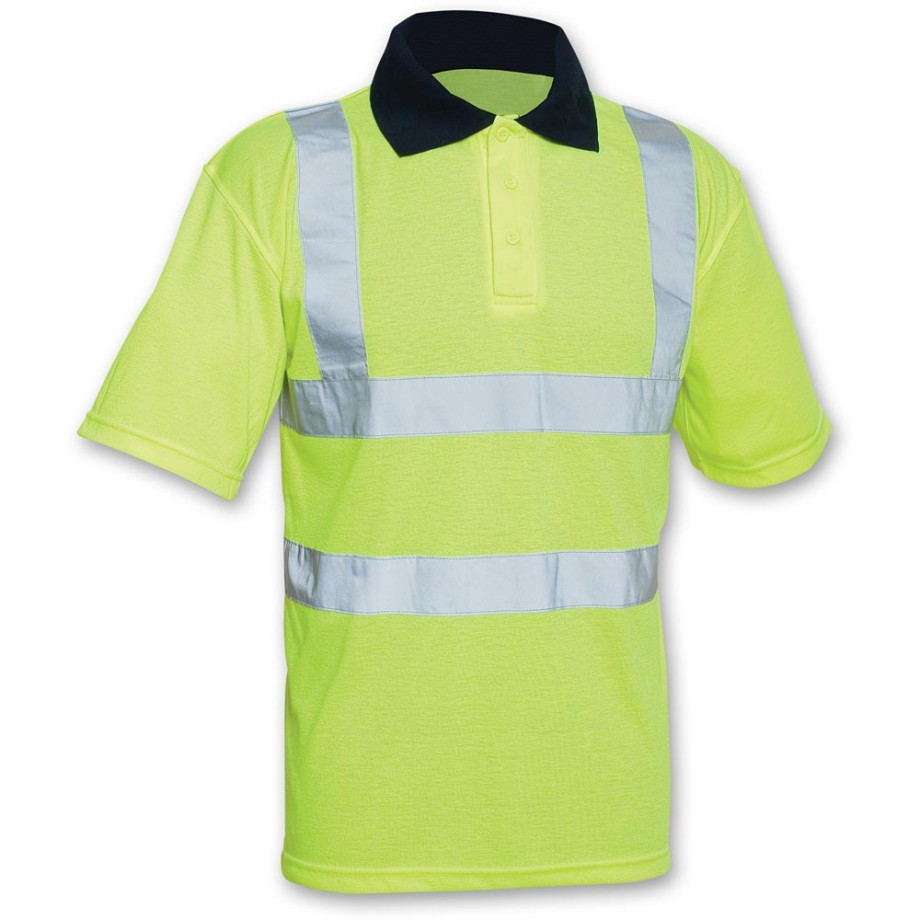 Scan Hi Vis Yellow Polo Shirt