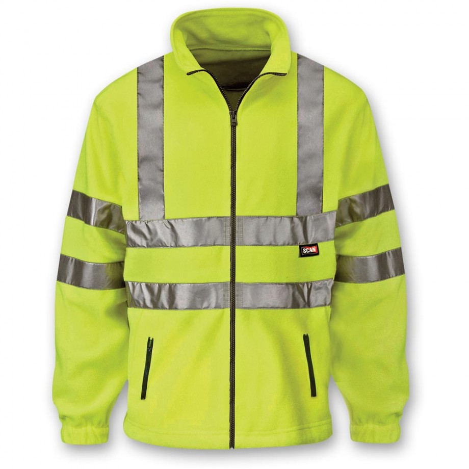 Scan Hi-Visibility Yellow Full Zip Fleece - XXL