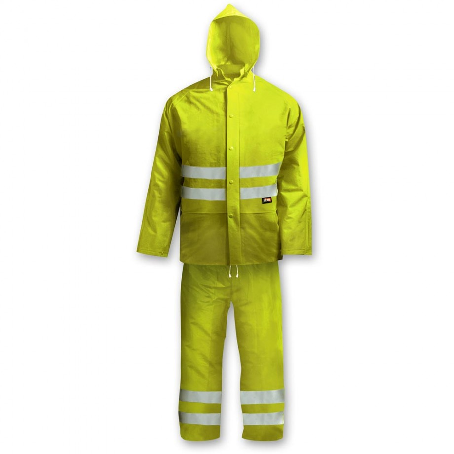 Scan Hi-Visibility Rain Suit Yellow - L