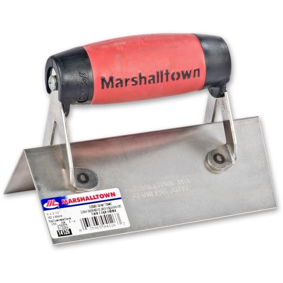 Marshalltown 68SSD Ext Corner Trowel S/Steel Durasoft Handle Rounded