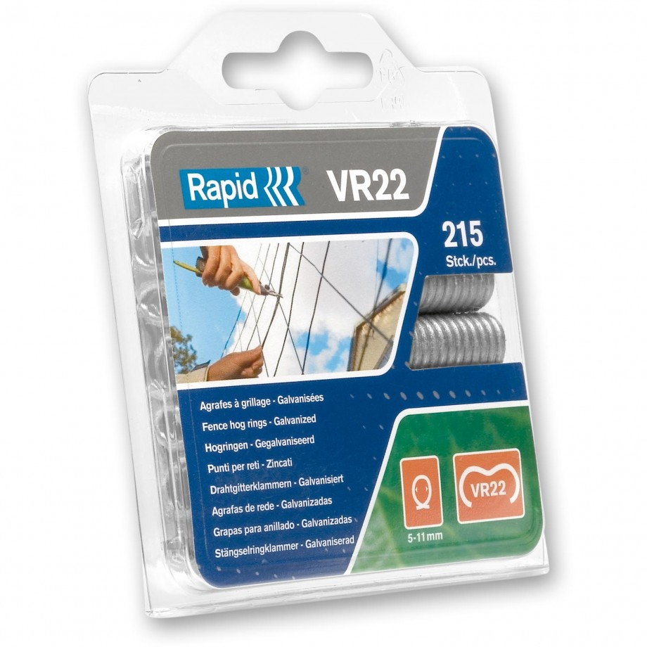 Rapid VR22 Galvanised Fence Hog Rings