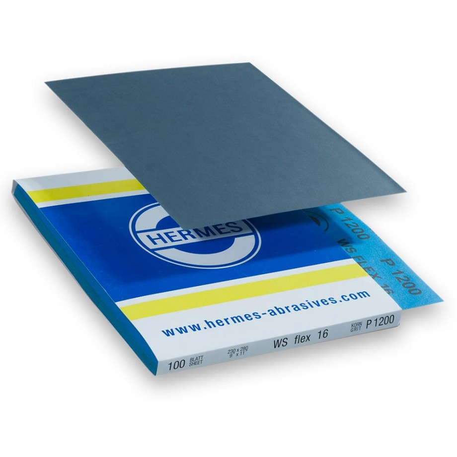 Hermes Wet & Dry Silicon Carbide 230 x 280mm x 1,500 Grit (Pkt 10)