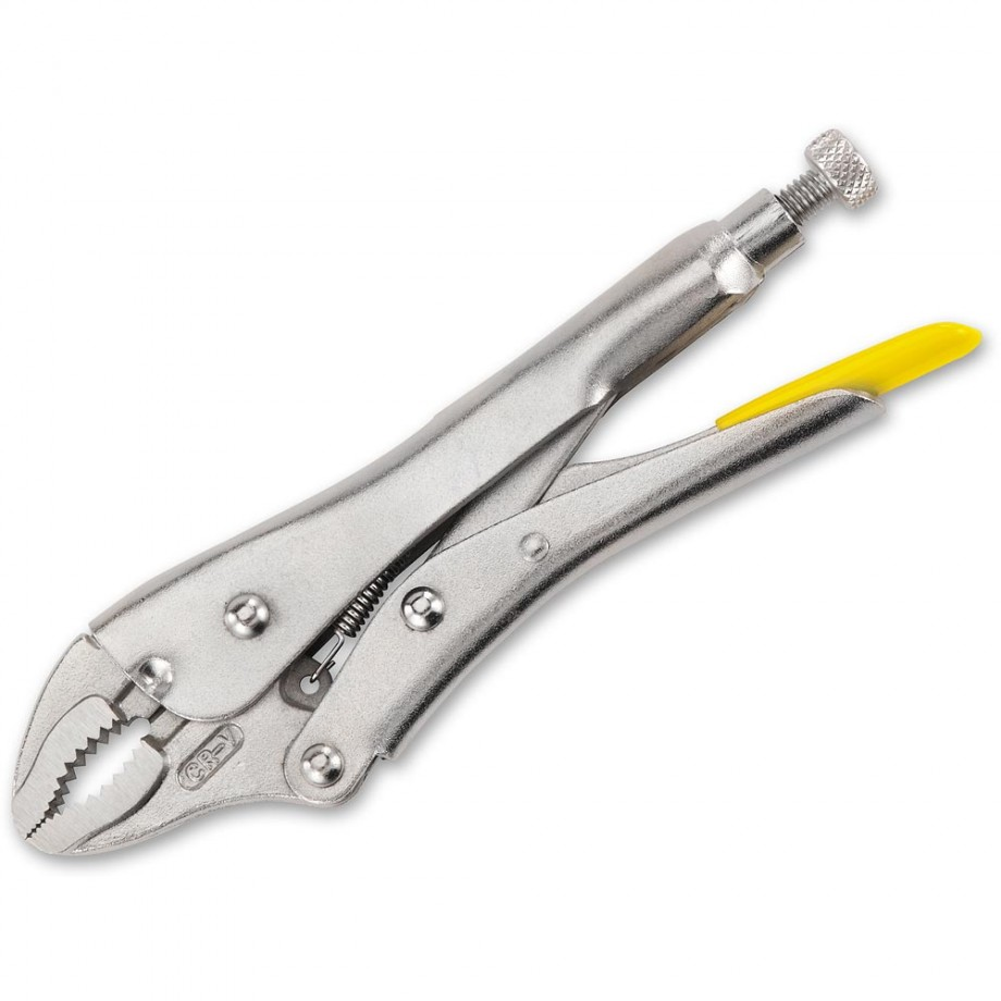 Stanley Locking Pliers 225mm Curved Jaw