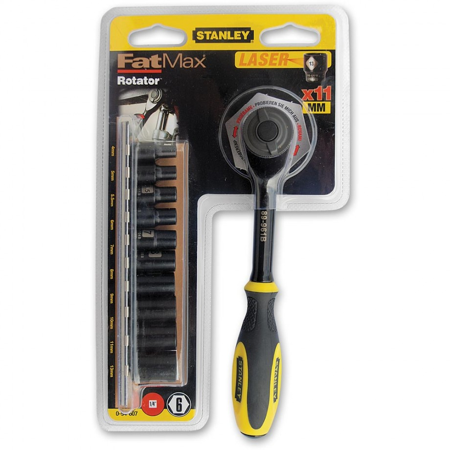 "Stanley FatMax 11 Piece Rotator Socket Set (1/4"")"
