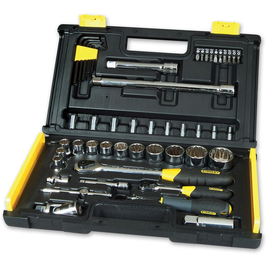 "Stanley 50 Piece Microtough Socket Set (1/4"" & 1/2"")"