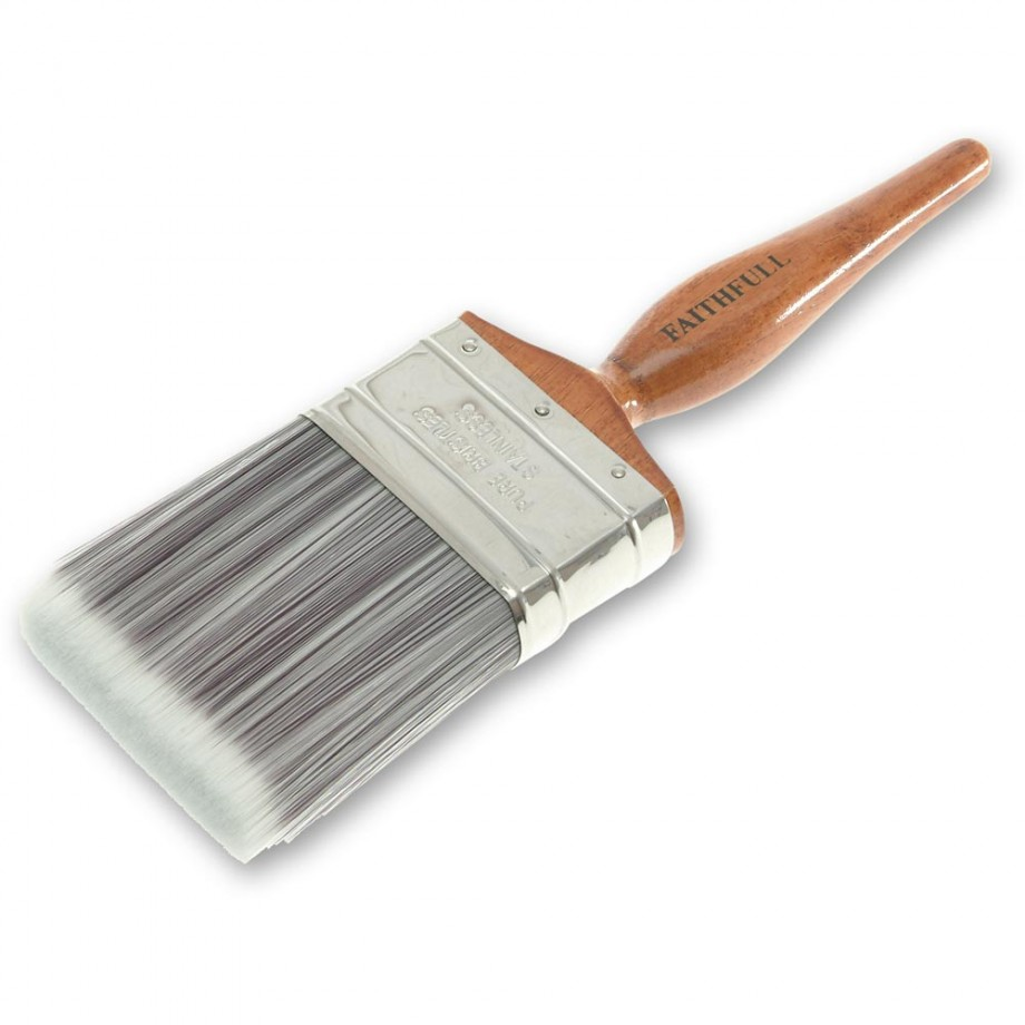 Faithfull Superflow Synthetic Paint Brush - 25mm(1in)