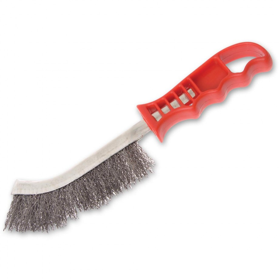 Faithfull Wire Scratch Brush Steel Red Handle
