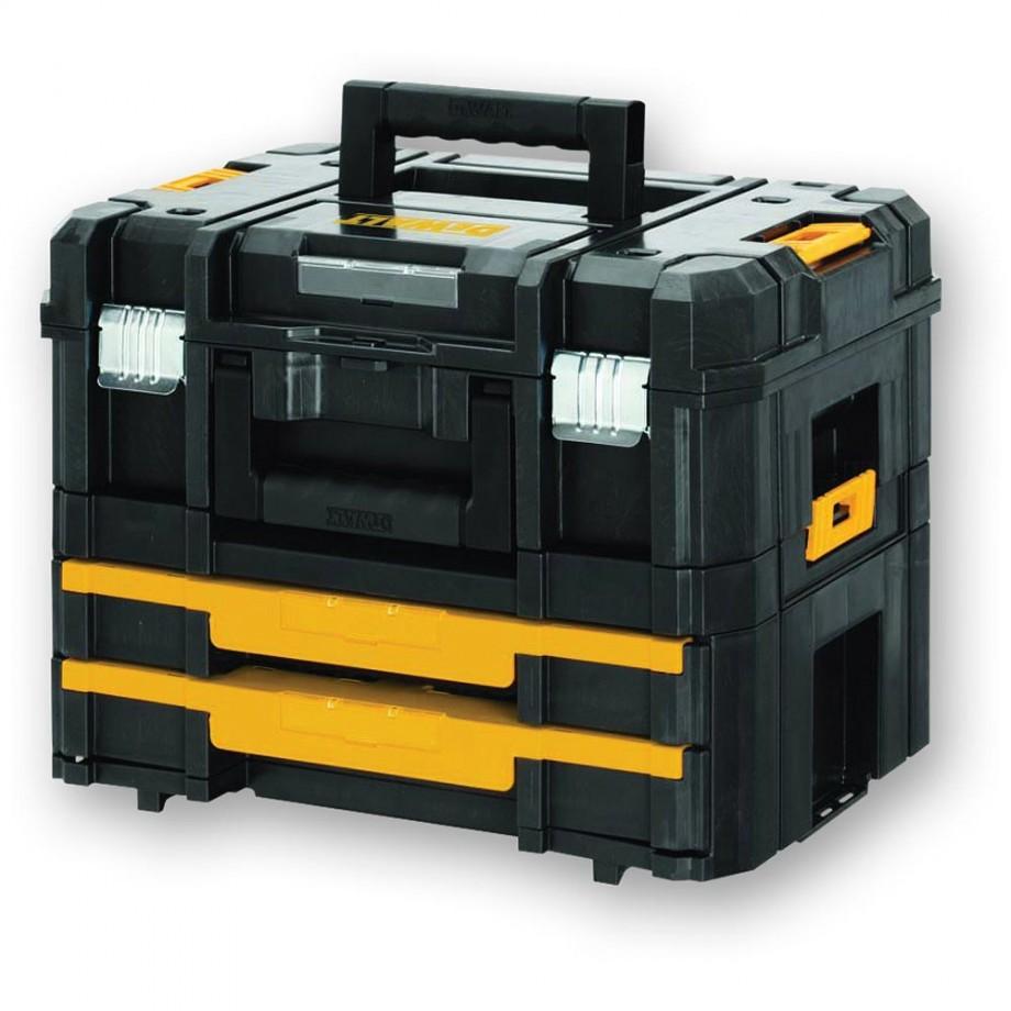 DeWALT TSTAK Toolbox 2 + 4 (Combo Set)