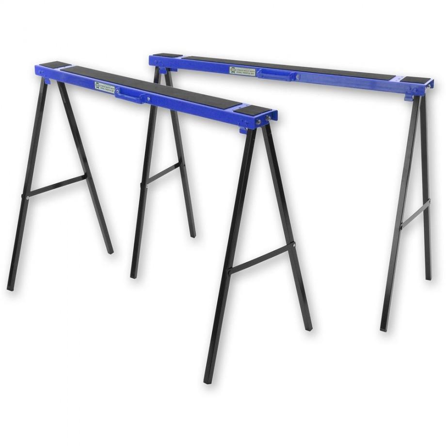 Faithfull Steel Trestles (Twin Pack)
