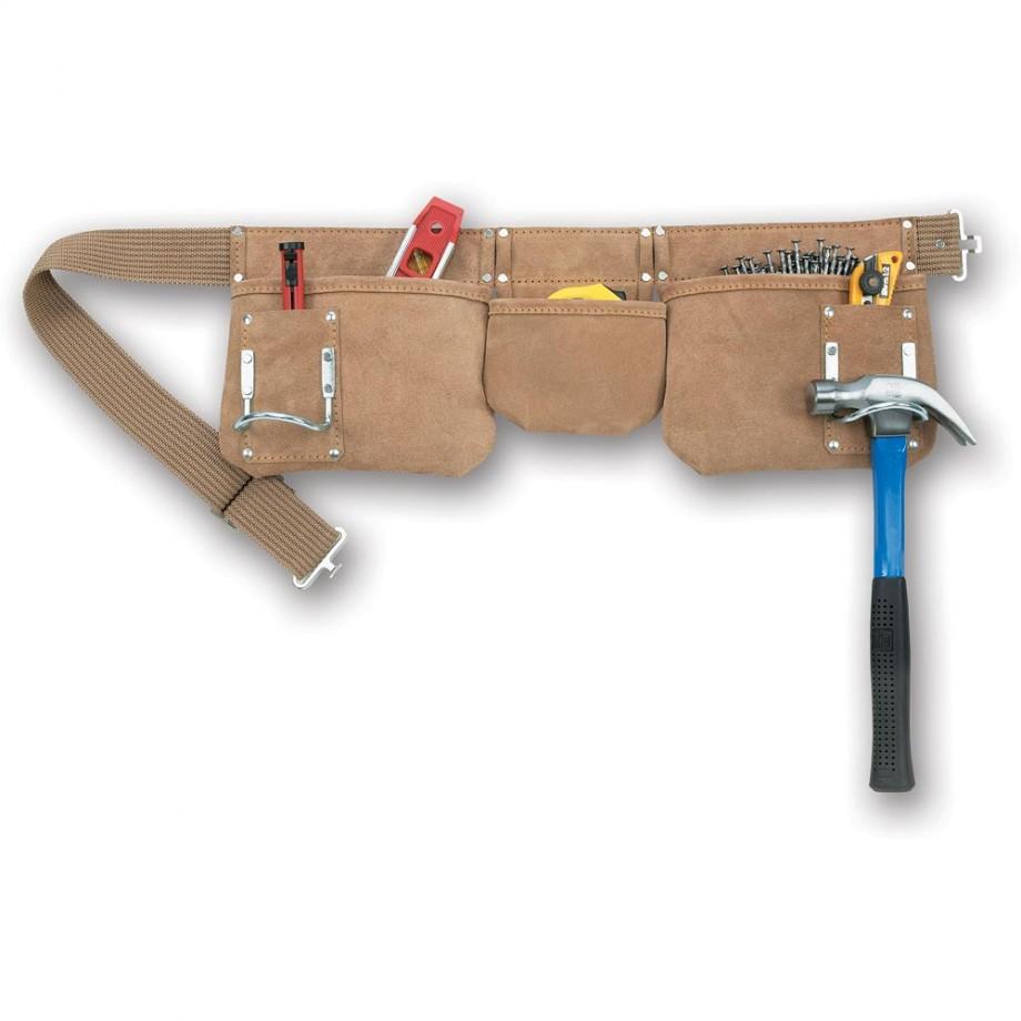 Kuny's AP1300 Carpenters Apron 7 Pocket Suede Leather
