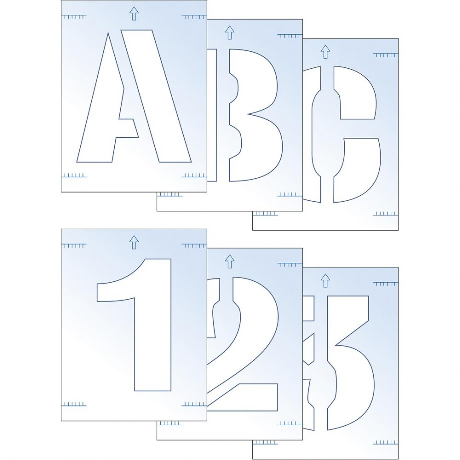 Scan Letter & Number Stencil Kit
