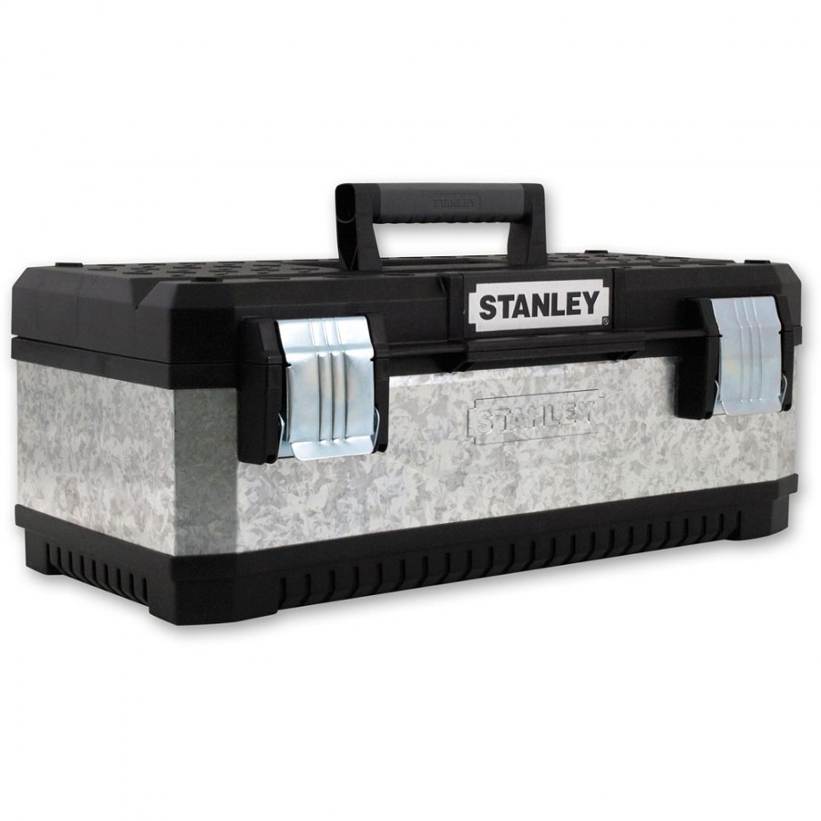 Stanley Galvanised Metal Toolbox 23in