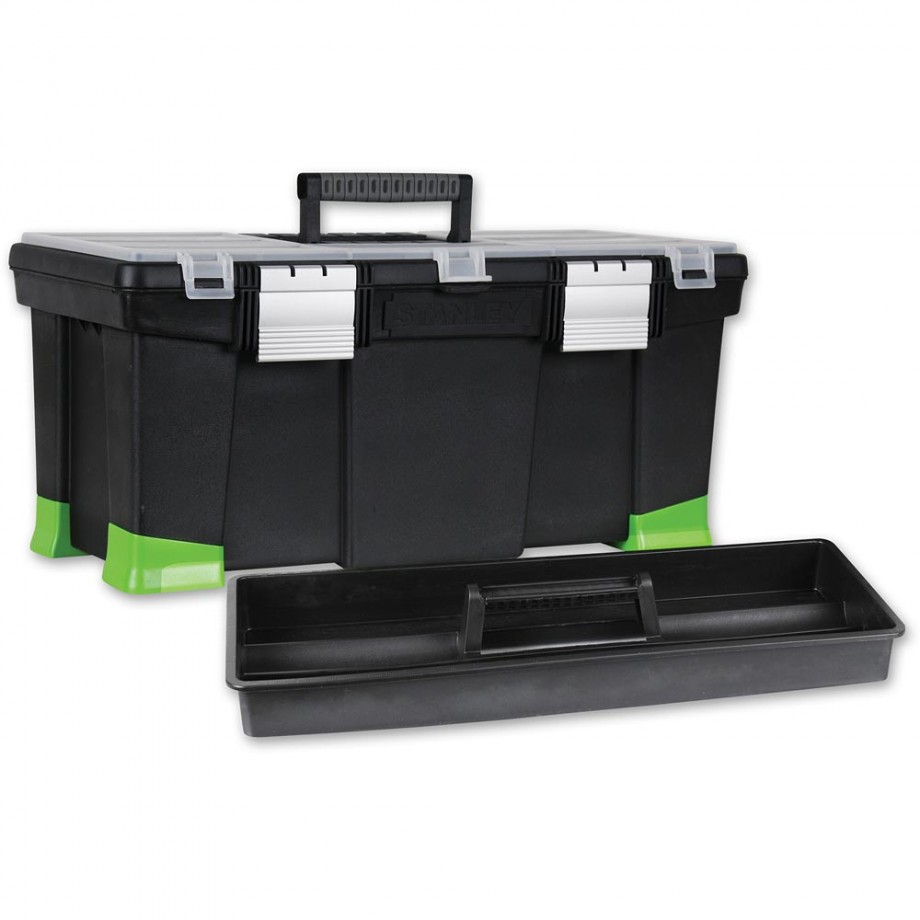 Stanley Toolbox With Hi-Viz Tapered Corners
