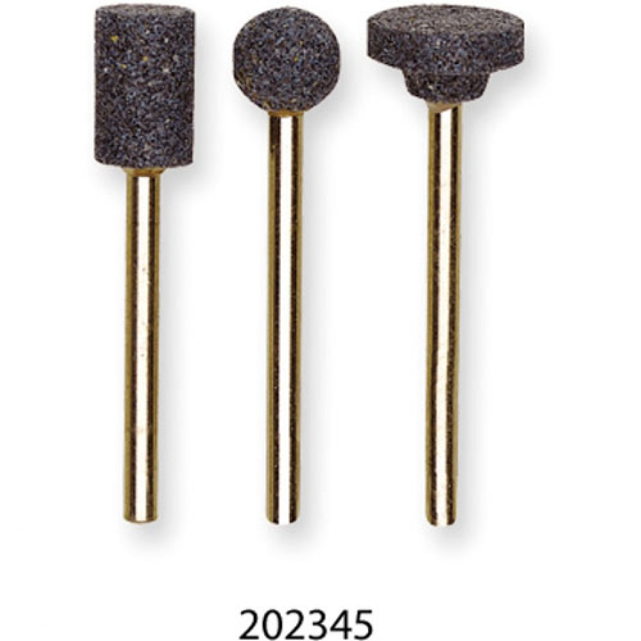 Proxxon Corundum Grinding Bit Flat 13mm - (Pkt 3)