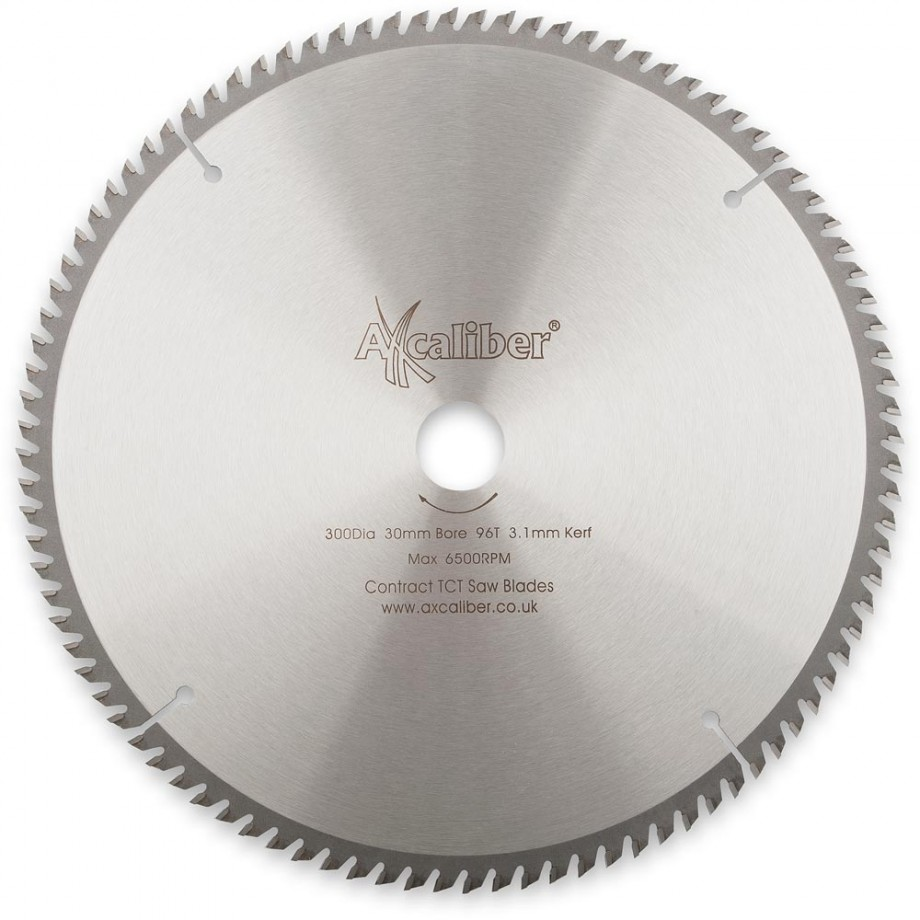 Axcaliber Contract TCT Saw Blade General Purpose - 300mm x 3.1mm x 30mm T96 ATB