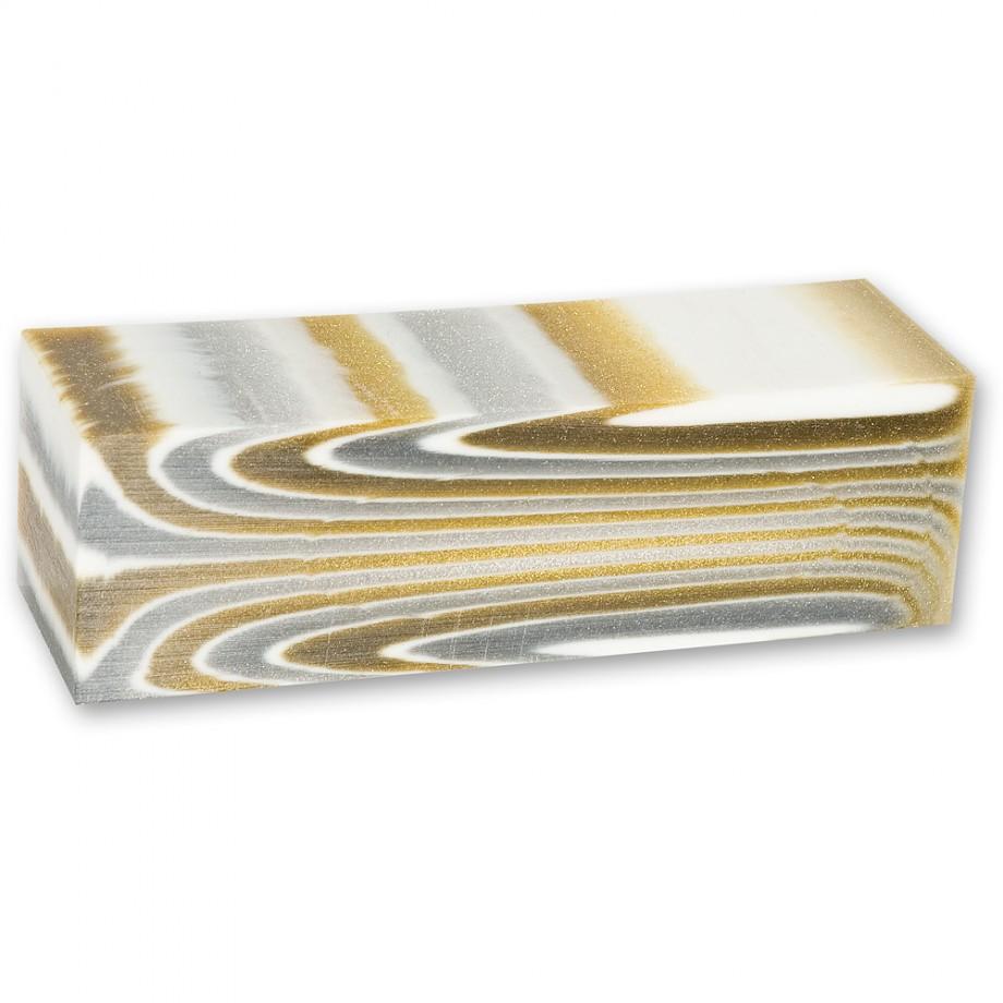 Craftprokits White/Gold Glitter Polyester Project Blank