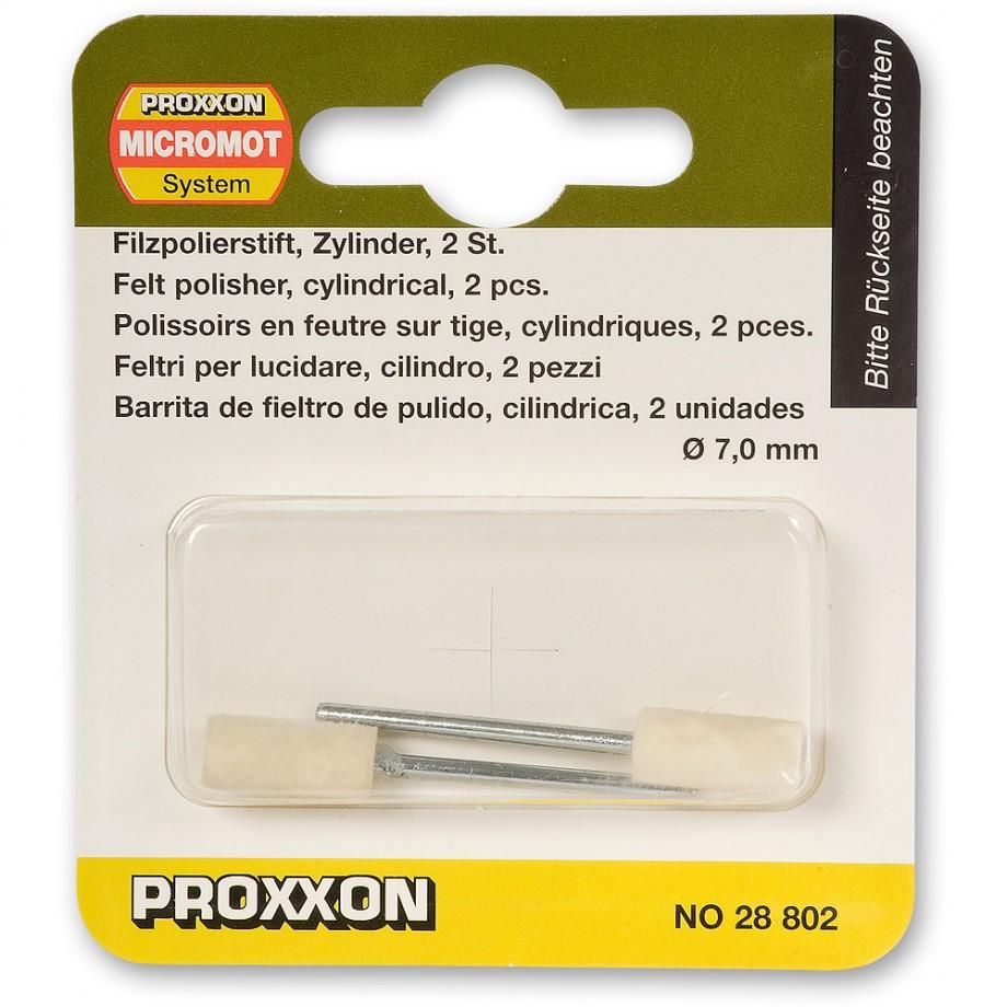 Proxxon Felt Polishing Cylinder Tips  (Pkt 2)