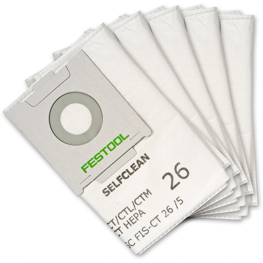 Festool Self Clean Filter Bags for CTL26 Extractor