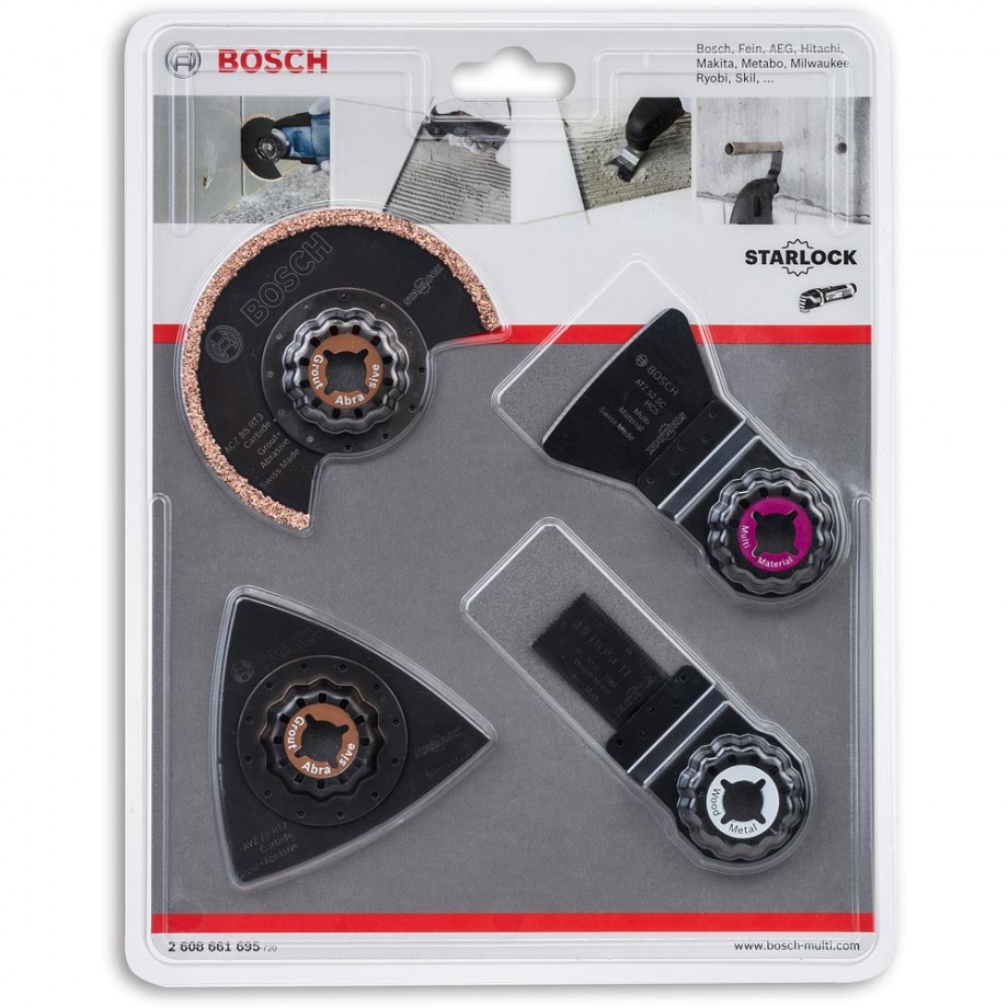 bosch tiling multi-tool accessory set (starlock) - kits for