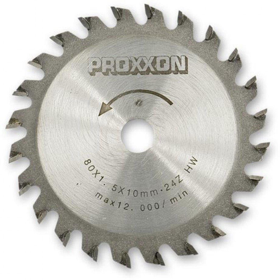 Proxxon TCT Saw Blade (80mm x 24 teeth)