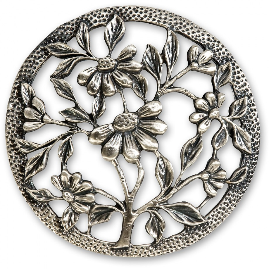 Craftprokits Pewter Lid - Flowers