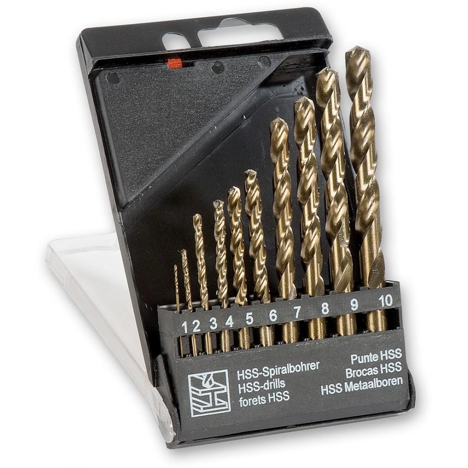 10 Piece Cobalt/HSS Drill Bit Set