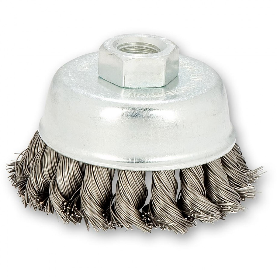 SIT 70mm Twist Knot Wire Cup Brush for Angle Grinders