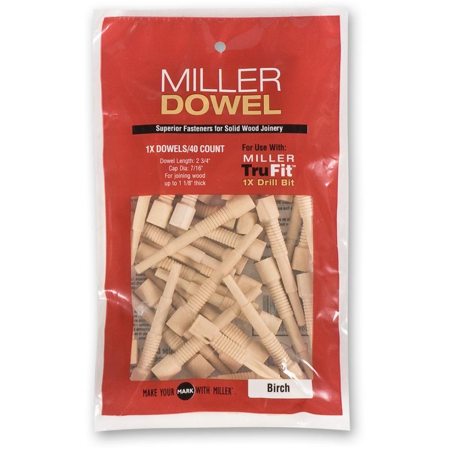 Miller Standard Dowels 1X - Walnut (Pkt 40)