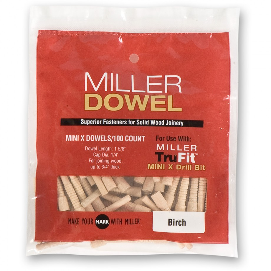 Miller Mini Dowels - Birch (Pkt 100)