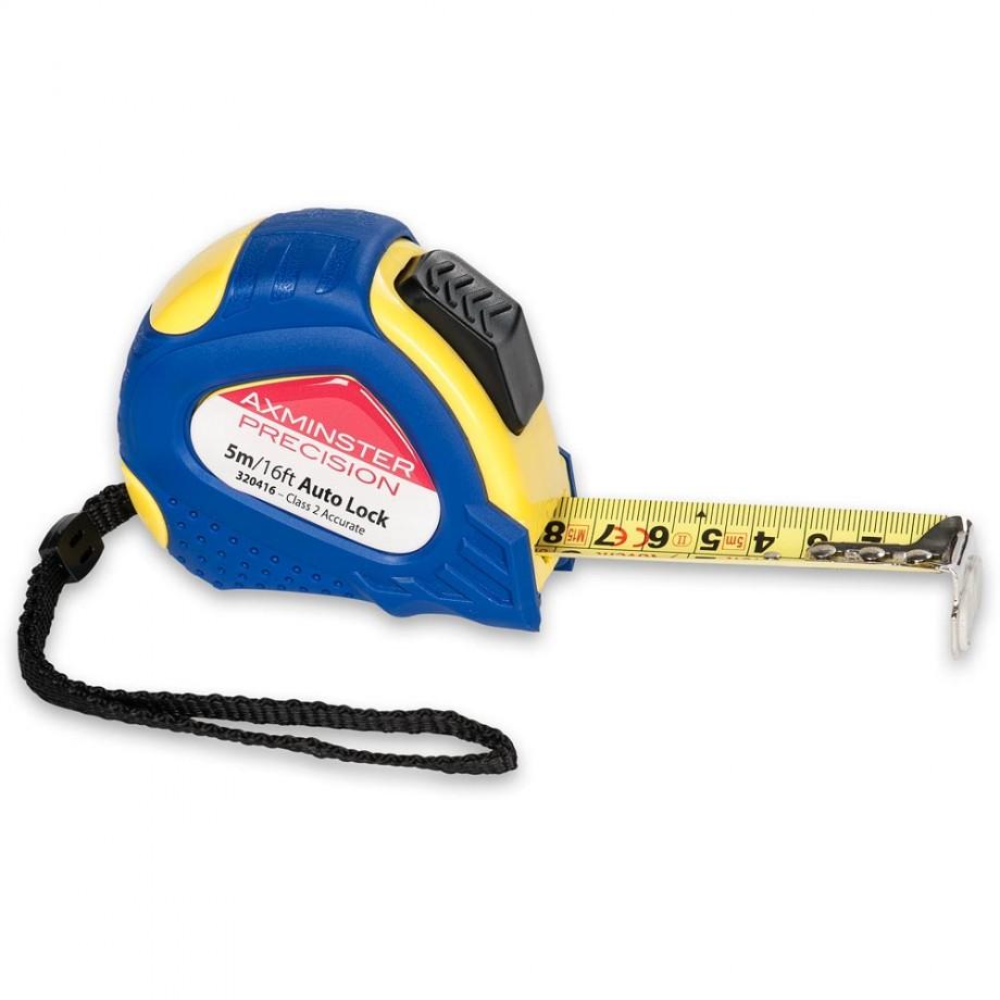 Axminster Precision Auto Lock Tape - 5m/16'