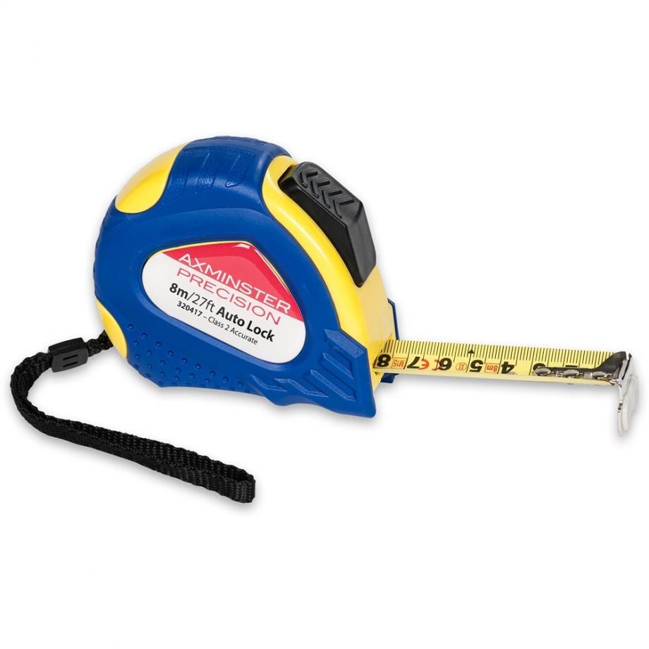 Axminster Precision Auto Lock Tape - 8m/26'