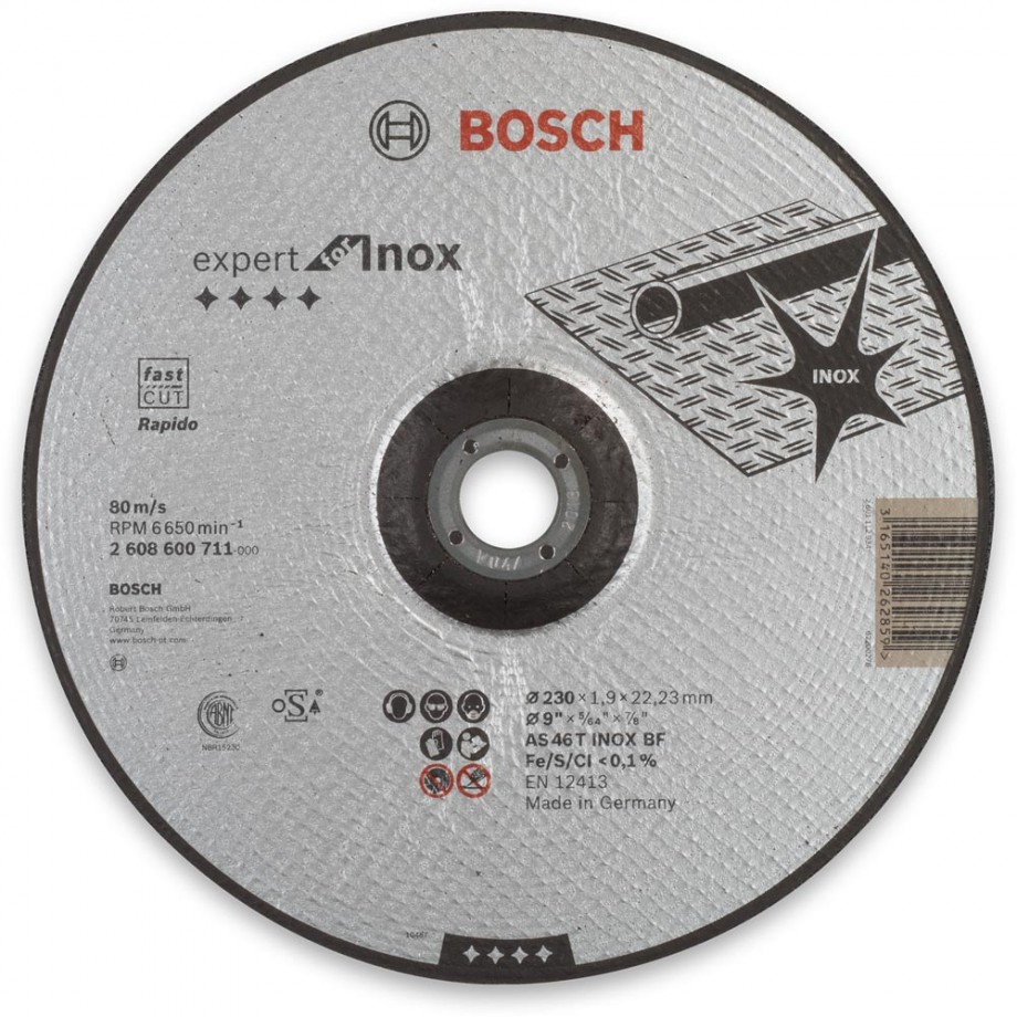 "Bosch Ultra Thin Metal Cutting Disc - 230mm(9"")"