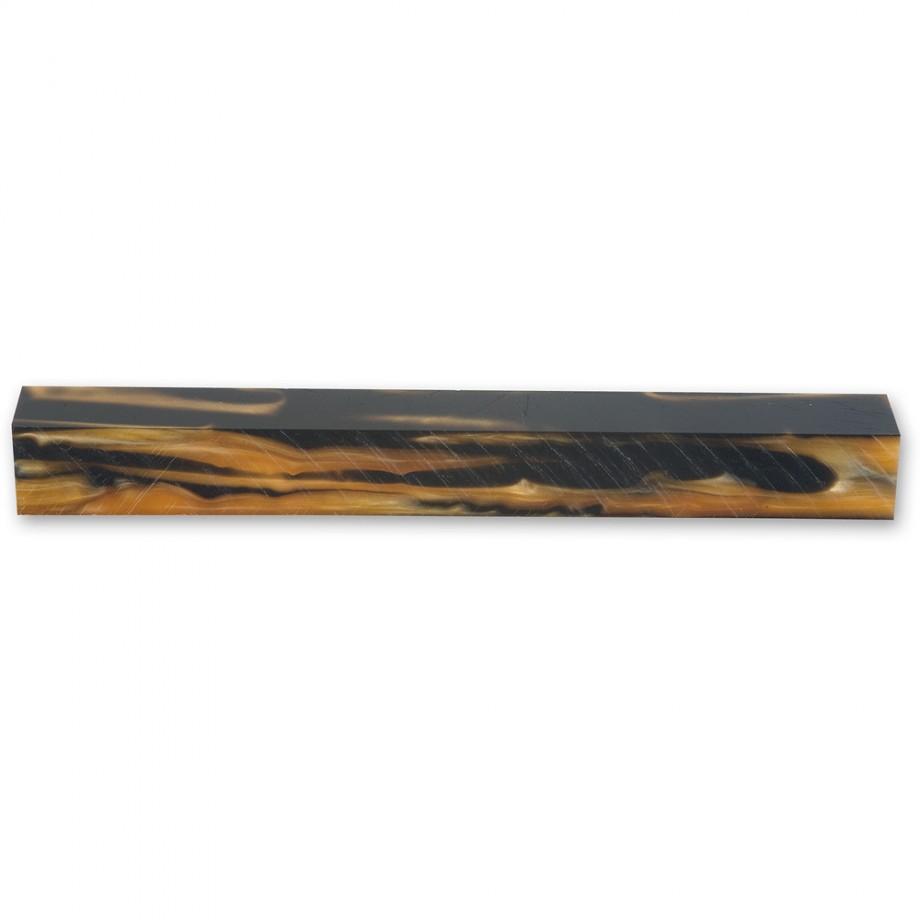 Craftprokits Black & Tan Acrylic Pen Blank