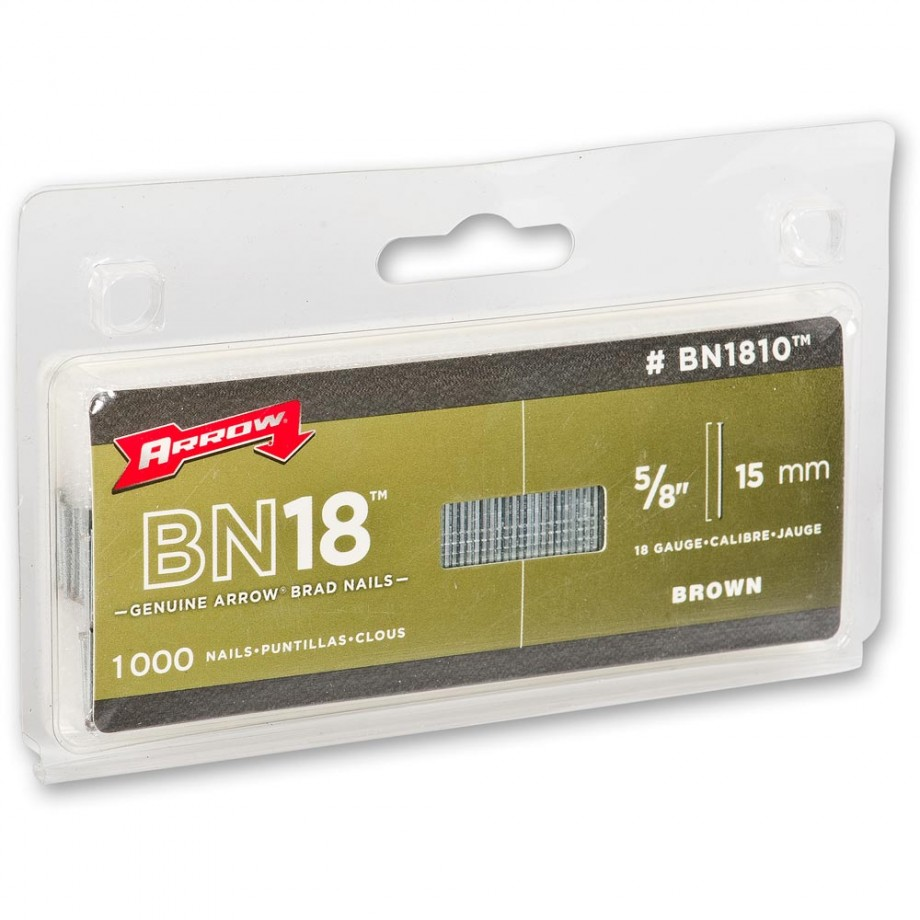 Arrow BN1816 Brads - 25mm (Pkt 2,000)