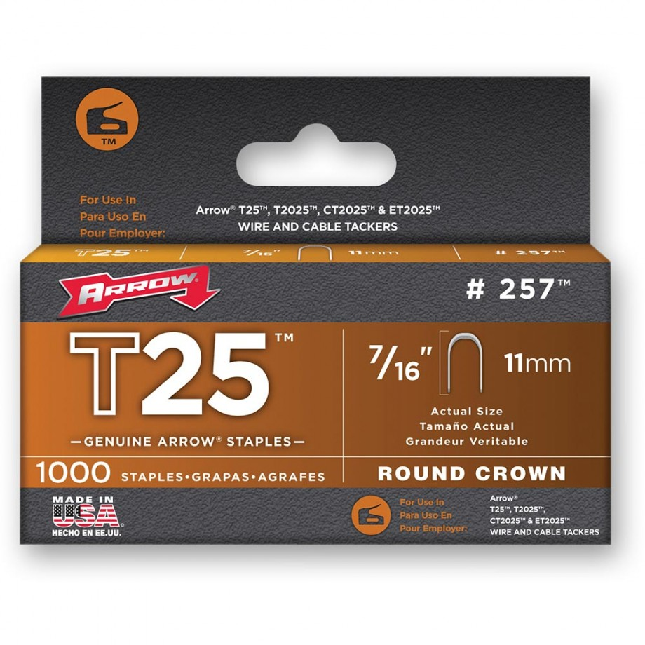 Arrow T25 Staples - 11mm (Pkt 5,000)