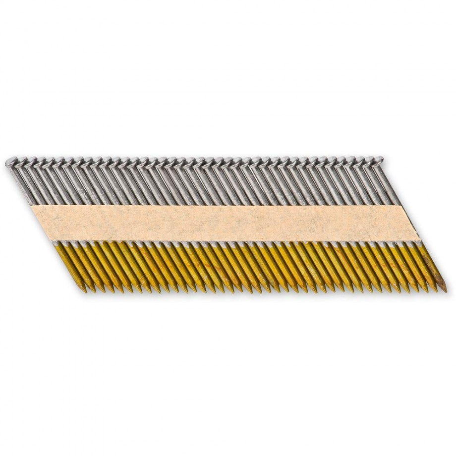 Axminster 28 deg Plain Shank Nails - 90 x 3.3mm (Box 2,000)