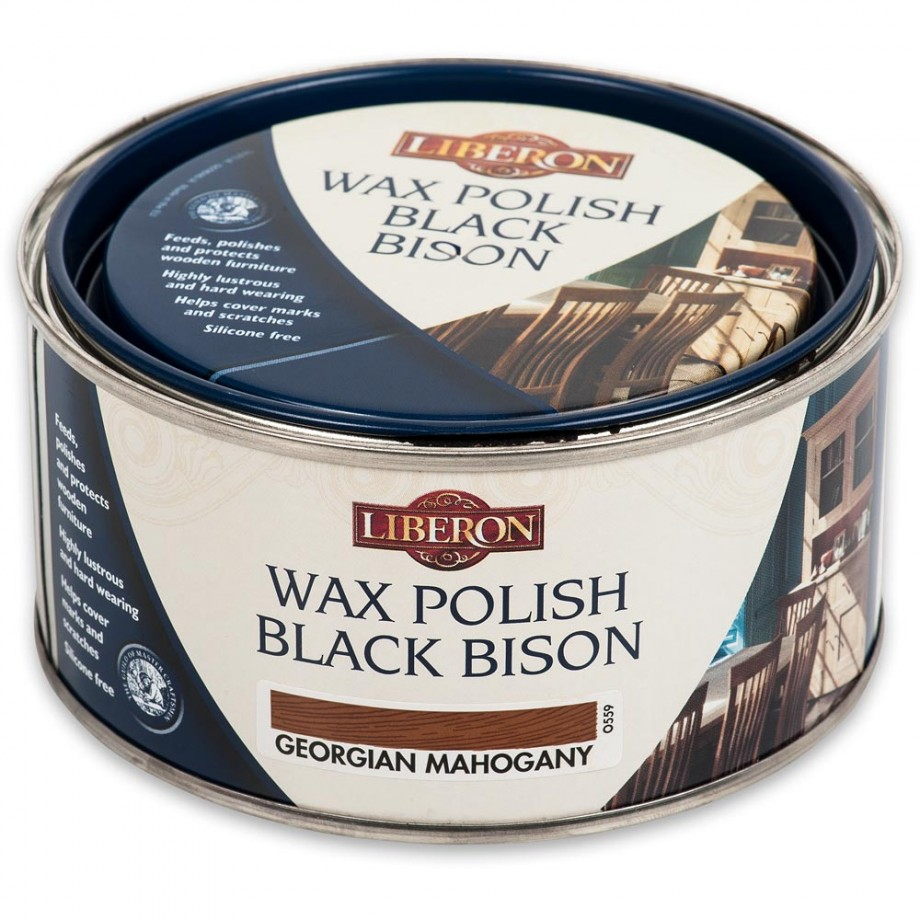 Liberon Black Bison Paste Wax - Georgian Mahogany 500ml