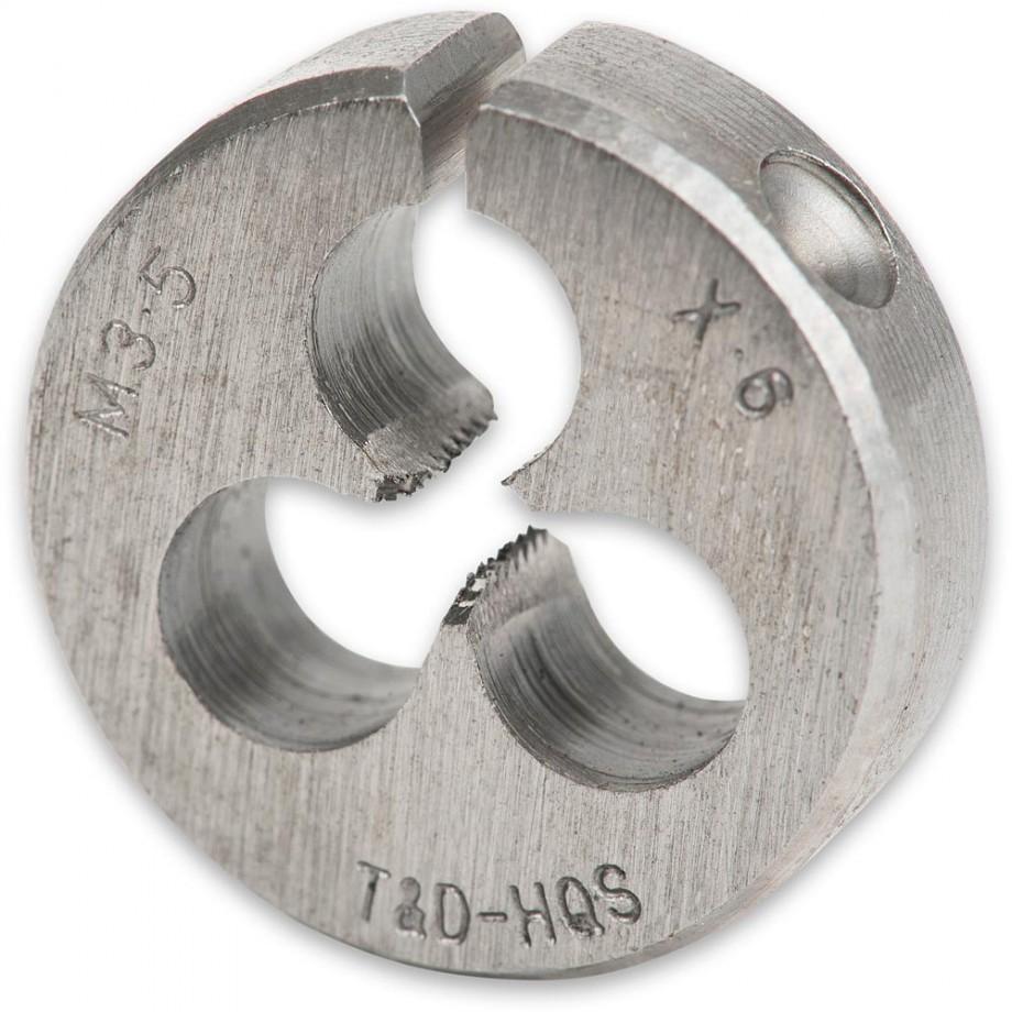 """Axminster Metric Split Die - M3.5 x 0.6 x 13/16"""" dia"""