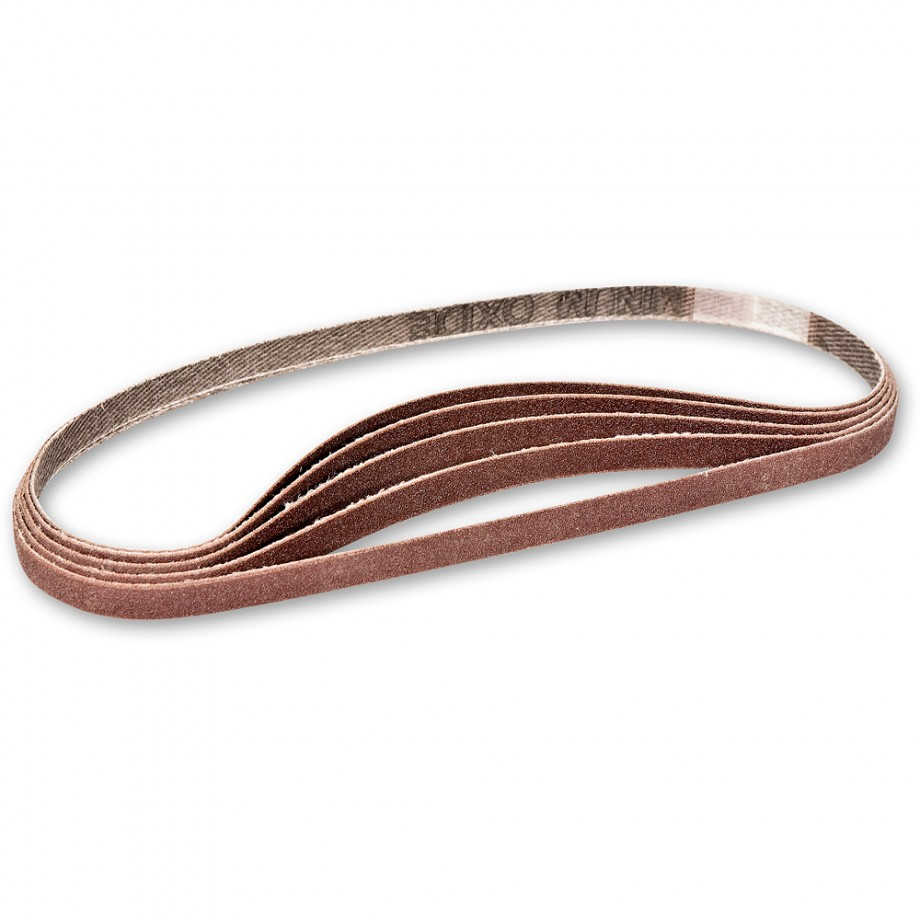 Axminster Replacement Sanding Belts - Red 320 Grit Belts (5)