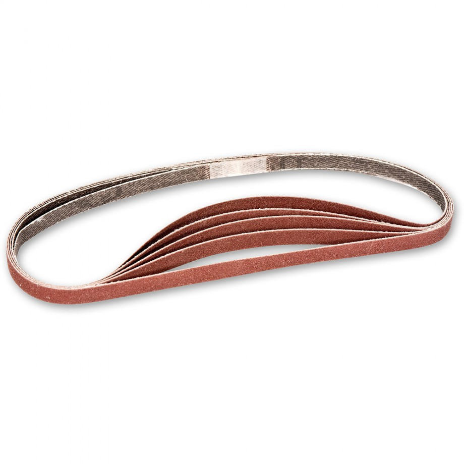 Axminster Replacement Sanding Belts - Yellow 400 Grit Belts (5)