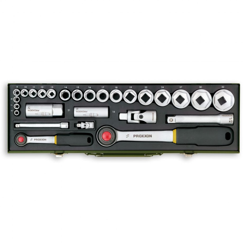 "Proxxon 27 Piece Automotive Socket Set (1/4"" & 1/2"")"