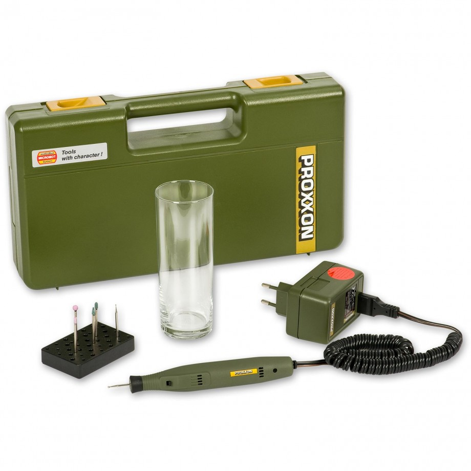 Proxxon GG 12 Complete Engraving Kit with Tester Glass