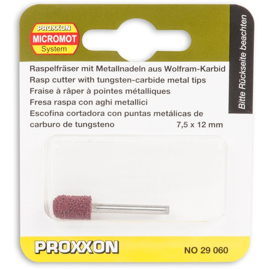 Proxxon TCT Cylinder Rasp (Rounded Head) 7.5 x 12mm