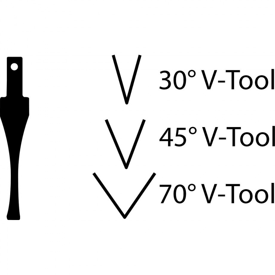 "Flexcut SK307 Chisel - 70° Vee x 1/4""(6mm)"