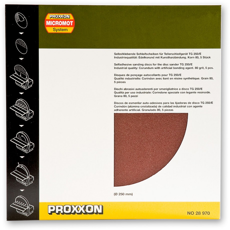 Proxxon Self Adhesive Sanding Disc 250mm - 80grit (Ptk 5)