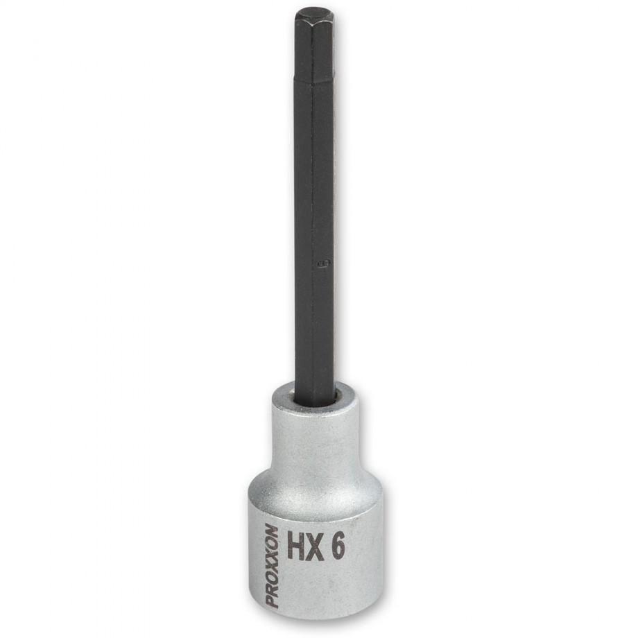 """Proxxon 1/2"""" Drive Hex Bit - 6mm x 100mm"""