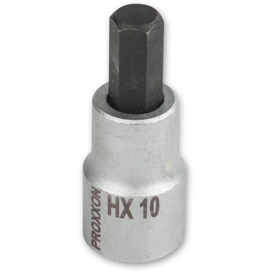 """Proxxon 1/2"""" Drive Hex Bit - 10mm x 55mm"""