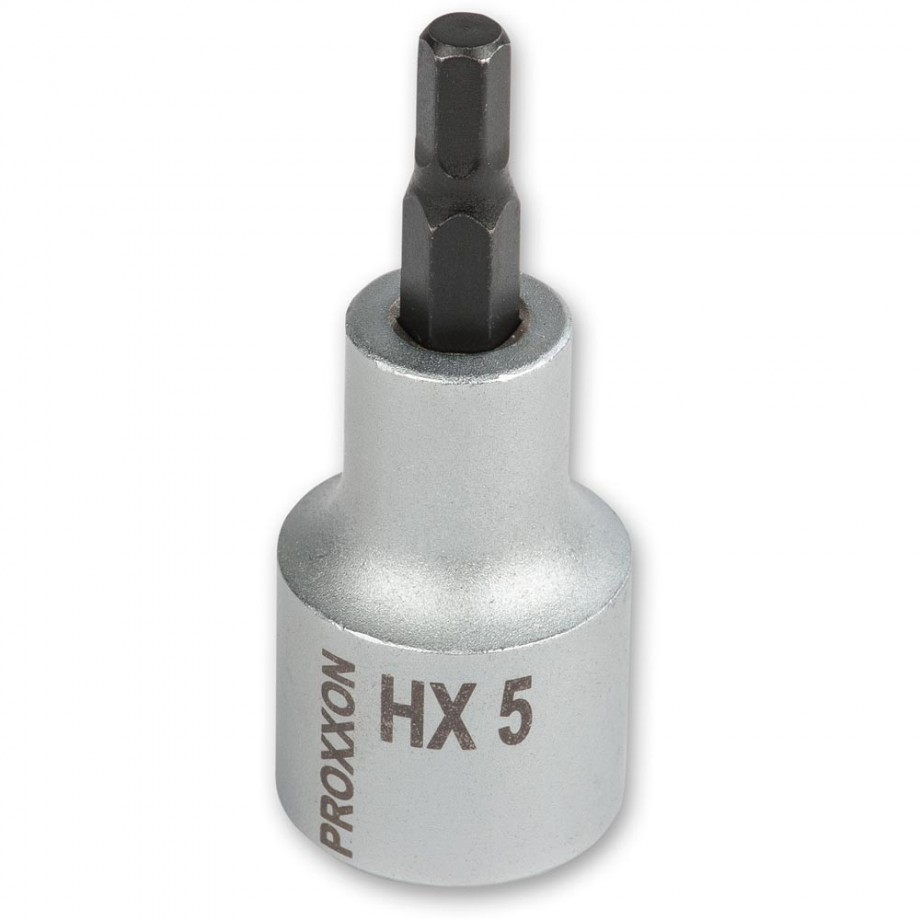 """Proxxon 1/2"""" Drive Hex Bit - 6mm x 55mm"""