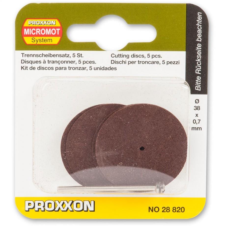 Proxxon Corundum Cutting Discs & Arbor - 38mm (Pkt 5)